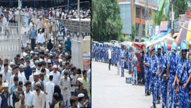 Photo of Heavy police force deployed at Mecca Masjid for Friday prayer