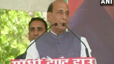 Photo of BJP ministers would have stepped down if there were any corruption charges against them: Rajnath Singh