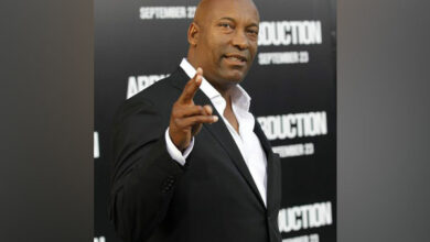 Photo of John Singleton in coma following major stroke