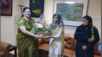 Photo of JMI VC meets electrician's daughter Subia selected for prestigious US scholarship