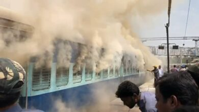 Photo of Fire engulfs coach of Charminar Express