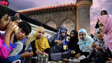 Photo of First Iftar at Makkah Masjid .