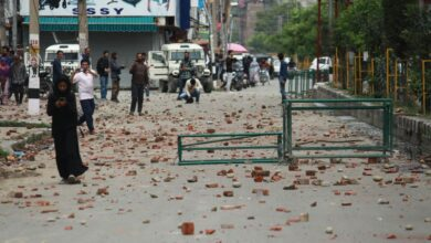 Photo of Srinagar: Heavy clashes erupted in parts of kashmir valley