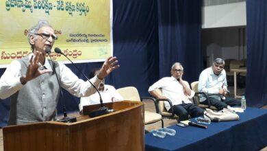 Photo of Ram Puniyani's lecture of Communal Harmony