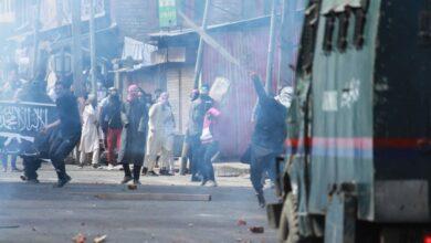 Photo of Clashes at Jamia Masjid Srinagar after Friday prayers