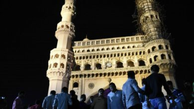 Photo of Historic 'Charminar' turning black due to pollution