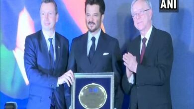 Photo of Anil Kapoor felicitated by European Chambers of Commerce in India