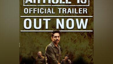 Photo of Ayushmann Khurrana starrer 'Article 15' trailer out