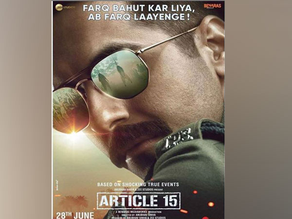 First look poster of Ayushmann Khurrana from 'Article 15' unveiled