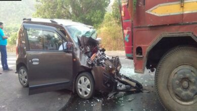 Photo of Odisha: Five dead, two injured after car rams into truck at NH-26