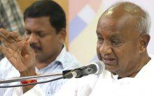 Deve Gowda stops son Kumaraswamy severing ties with Congress?