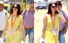 'Woman in yellow sari' wants to go to 'Bigg Boss'