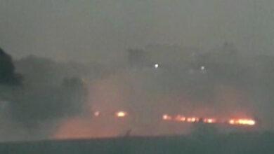 Photo of Fire breaks out in stubble near Bhatia village in Ludhiana