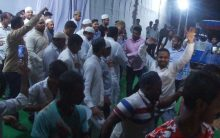 MIM workers Celebrate at Owaisi's Residence