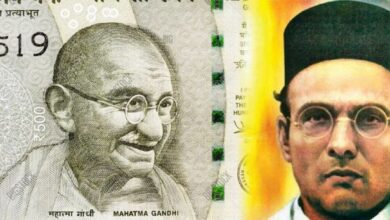 Photo of Hindu Mahasabha reiterates demand for Savarkar's photo on currency instead of Gandhi