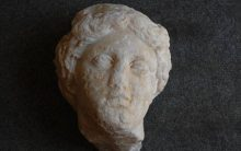 Marble goddess head unearthed in Rome