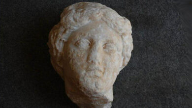 Photo of Marble goddess head unearthed in Rome