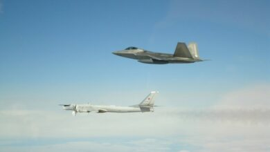 Photo of Russian bombers, fighters intercepted near Alaska by F-22s: US military