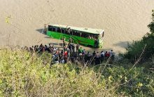 Nepal: 5 killed after bus plunges into river