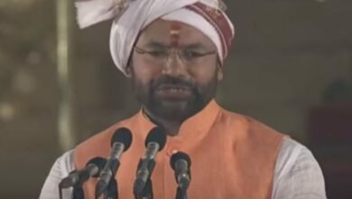 Photo of Bharat Mata ki Jai, says new MoS Kishan Reddy after taking oath