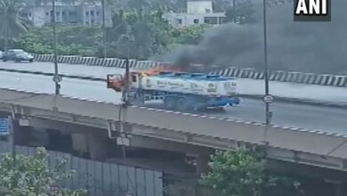 Photo of Oil tanker catches fire in Mumbai