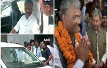 Political leaders arrive in Delhi for NDA meeting