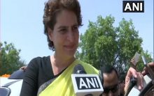 Priyanka Gandhi votes, says BJP will be ousted