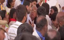 Telangana: Two Cong leaders get into scuffle during exam result protest