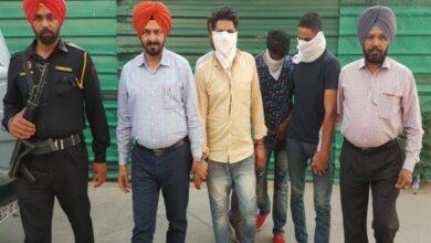 Photo of Punjab: Three men nabbed with 600-gram heroin