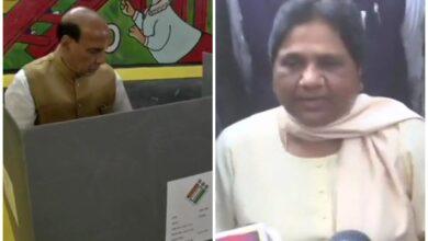 Photo of LS Poll phase five: Rajnath Singh, Mayawati, Yashwant Sinha among early voters