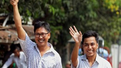Photo of Jailed Reuters journalists freed in Myanmar