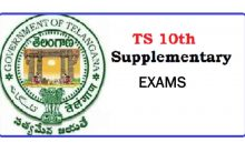 SSC Supplementary Exam from 10th to 24th June