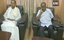 Meeting between K'taka CM, Congress leaders underway