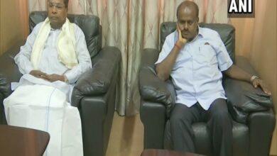 Photo of Meeting between K'taka CM, Congress leaders underway