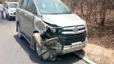 Photo of Telangana: 3-year-old killed after MLA's car rams bike