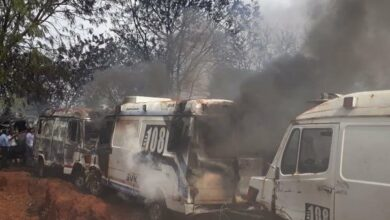 Photo of Telangana: 50 govt ambulances gutted in fire