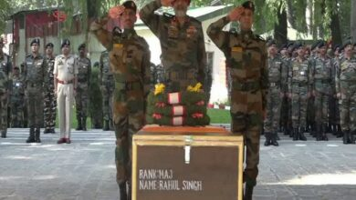 Photo of Army pays tribute to Major Rahul who died of chest pain