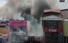 Fire breaks out at commercial building in Thiruvananthapuram