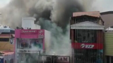 Photo of Fire breaks out at commercial building in Thiruvananthapuram