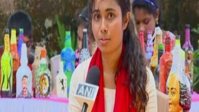 Photo of Mangaluru: Discarded bottles turn canvas for artist