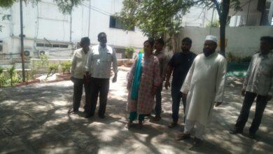 Photo of Corporator Vijaya reddy visit Masjid-e-Qutub Shahi Lakdi ka pul