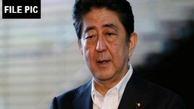 Photo of Japanese Prime Minister Shinzo Abe asks Iran to release American captives