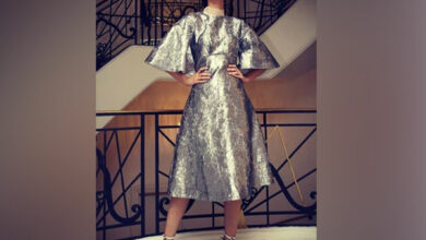 Photo of Diana Penty bids adieu to Cannes in lustrous grey outfit