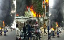 Hyderabad: Towering fire broke out at furniture godown in Karwan