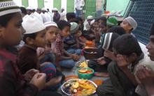 Iftar party at Jalal Baba nagar Attapur