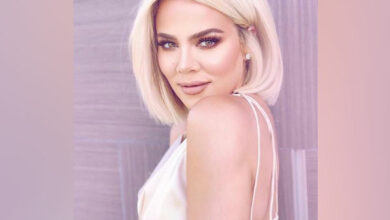 Photo of Khloe Kardashian attends first prom with fan