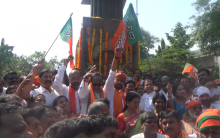 BJP leaders pay homage to martyrs at Gun Park