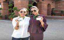 Tollywood Stars-Turned-MPs Mimi and Nusrat pose in western in Parliament; trolled