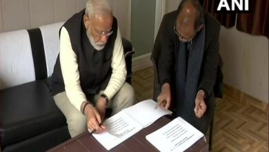 Photo of PM reviews development projects in Kedarnath