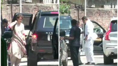 Photo of Priyanka, Sachin Pilot meet Rahul Gandhi at his residence